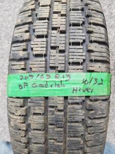 205/65/15 4 pneus hivers BFGoodrich 10/32 Comme Neuf