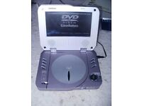 """PORTABLE DVD PLAYER """"GOODMANS"""" Portable/Personal DVD & CD Player. Mains 240 OR 12v in CAR"""