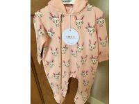 Designer Baby Girls lightweight travel suit/ pram suit