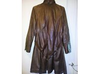 Leather coat by Autograph