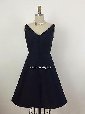 NWT $428 Kate Spade ZIP UP Black DRESS Sz 00 LBD Front Zipper ~ 85% OFF! (Zip Up Front Dress)