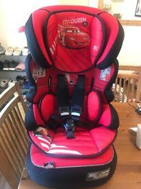 Lightning Macqueen car seat