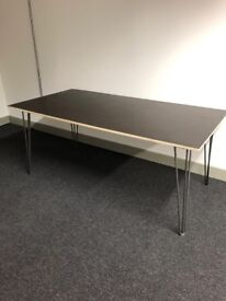 Hand made office desk with hair pin legs