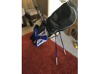 Ben sayer golf clubs and trolly