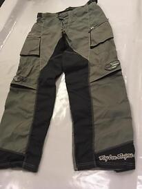 Troy Lee motor pants size 34, good condition grey/blk
