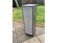 Bisley filing cabinet 30-drawer. Two available.