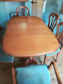 FOR SALE - WOODEN DINING TABLE AND CHAIRS