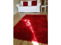 Shine Cherry Rug & matching cushions.