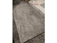 Indus Dark Grey Stone Effect Porcelain Wall & Floor Tile (600x300) - 8 tiles