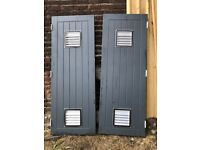 "uPVC Door Pair - With Air Vents - 6'6"" Tall"