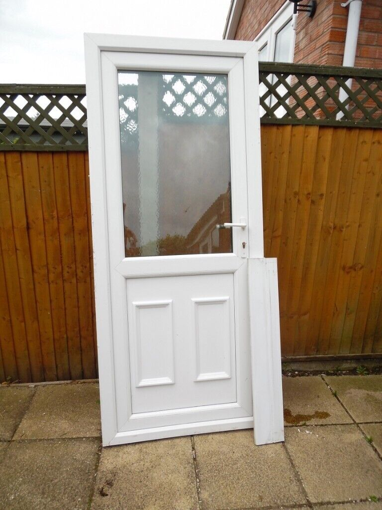 Outward Opening White Upvc Double Glazed Rear Garage Door In Norwich Norfolk Gumtree