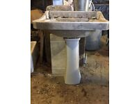 Victorian Pedestal Basin (matching pair available)