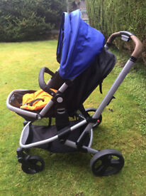 Mothercare Xpedior Four Wheel, very good condition, merely used. Baby bag goes free