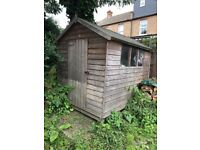 Wooden Garden Shed with window - Great condition - dry - 8 foot x 6 foot