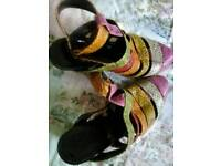 Beautiful multicoloured leather shoes