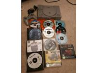 Sony ps1 console and various games
