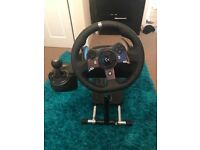 Logitech G920 Steering Wheel, Pedals, Gear Stick/ Knob/ Lever, Wheel Stand Pro XBOX One 1, PC,