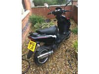 Lexmoto 125 Scooter. Working. Comes with helmet and bike lock. No MOT.