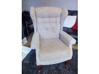 Sherborne upholstery high back fire side chair.