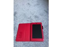 Acre Ivonia One 7 tablet in leather case