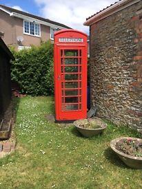 British Red K6 Telephone Box