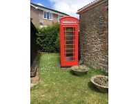British Red K6 Telephone Box
