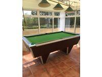 Pub style 6 x 3 slate pool table