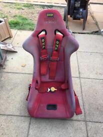 2 x Bucket seats (carbon fiber) touring car Ferrari