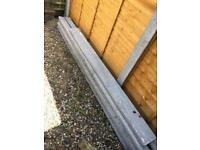 4x 9 ft concrete fence posts. 3x 6ft concrete gravel boards 4x bags of post mix.