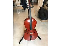 CELLO -I/2 size Yamaha VC5 in showroom condition. Case, bow and stand included