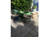 Large heavy plant pots