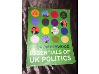 AS Level Politics Revision Book for sale  Cheshire