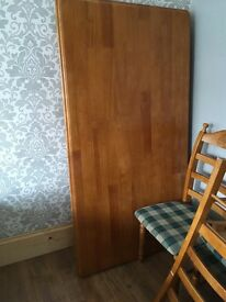 Large dining table and 4 chairs