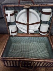 4 piece wicker basket picnic set
