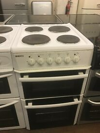 50CM WHITE BEKO ELECTRIC COOKER GRILL/OVEN HOTPLATE
