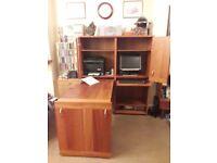 Fold-Away Computer Workstation Unit