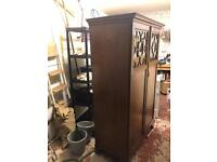 Two door dark wood wardrobe