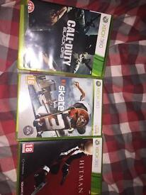 Xbox 360 call of duty black ops hitman absolution skate 3