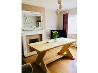 Handmade scaffold board dining table 6'x3'