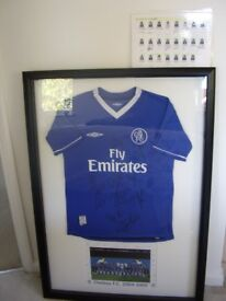 Chelsea Autographed Shirt by Team 2004 - 5 in display frame