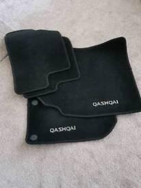 Qashqai footwell mat set- black