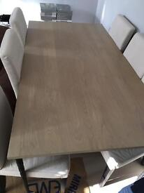 6 - 8 people wooden and cast iron dining Table