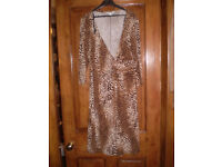 Chargers brown leopard print dress