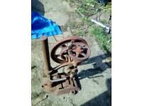 Decorative iron drill stand