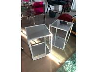 2 mirrored glass side tables (Next)