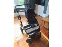 AS NEW Mountain Buggy Duet 2014-2016 style (double) w/ carrycot & accessories £400 (worth £800+)