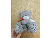 "Brand new, Me to You Bear Teddy, Tatty Teddy, holding 2 orange/pink flowers with green stems, 5""-6"""
