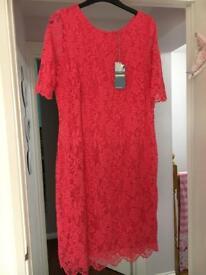 Ladies M&S lace overlay dress