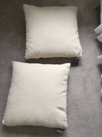 2 brand new with tags cream chenille cushions House of Fraser Linea