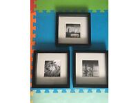 Jurek Nems print (London theme 3x) in IKEA RIBBA black frames-very good condition-PUTNEY HEATH SW15